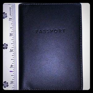 Coach Black Leather Passport Case